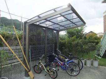 広島県安芸郡・呉市・広島市 サイクルポート施工例