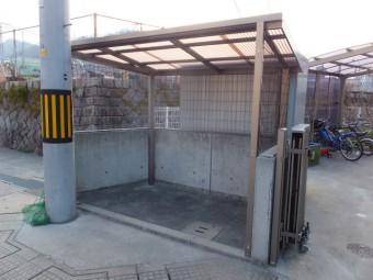 安芸郡坂町 ゴミ置き場屋根 施工例2