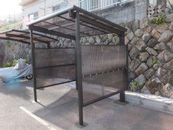 広島市安芸区中野東 N様邸 サイクルポート施工例4