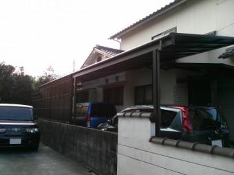 広島県安芸郡熊野町 I様邸 カーポート施工例2