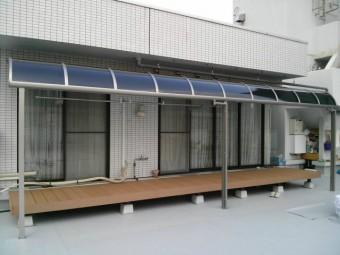 広島県東区 Uビル デッキ・テラス施工例1