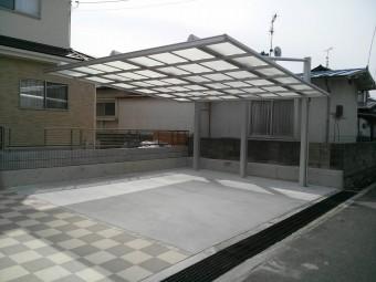 呉市焼山 K様邸 カーポート施工例2
