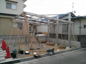 呉市焼山 K様邸 カーポート施工例1