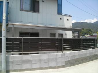 K様邸 テラス・フェンス施工例2