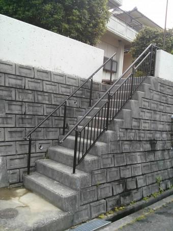 広島県呉市 S様邸 手すり施工例 2