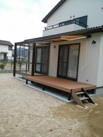 安浦町 Y様邸 サンルーム・デッキ・オーニング 施工例3